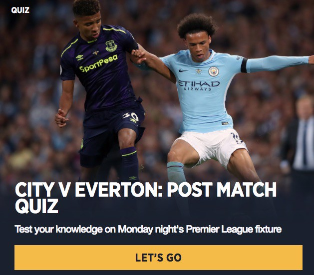 CITYZENS - post match quiz