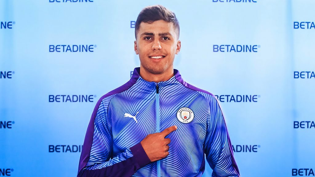 BADGE OF HONOUR: Rodri says he can't wait to get started with his City career