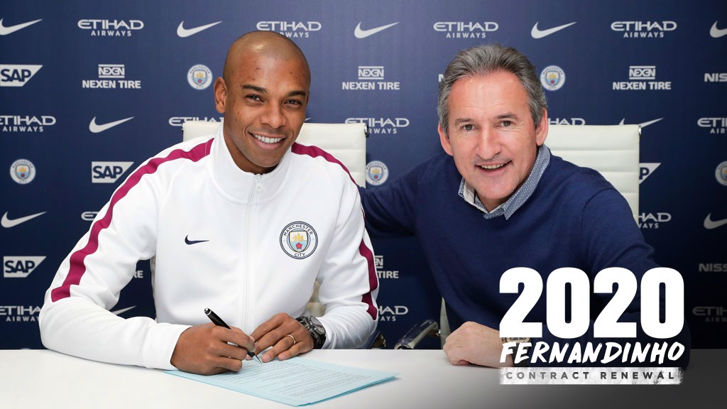 DONE DEAL: Fernandinho has signed a two-year contract extension