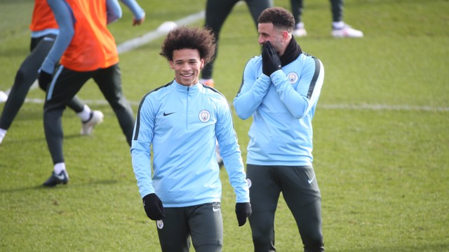 BEHIND YOU: Kyle Walker keeping warm at the CFA