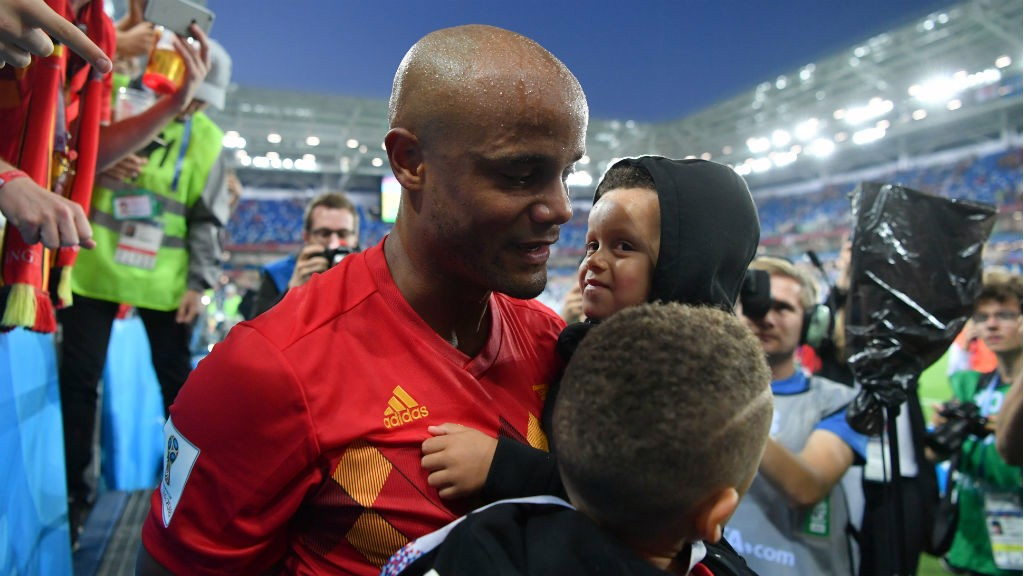 DAD'S PLAYING IN THE WORLD CUP! Vincent Kompany after making his return against England
