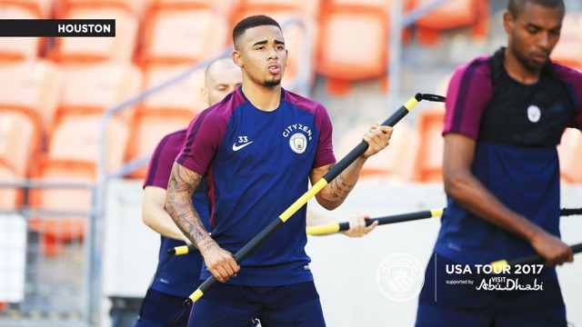 Gabriel Jesus training in Houston