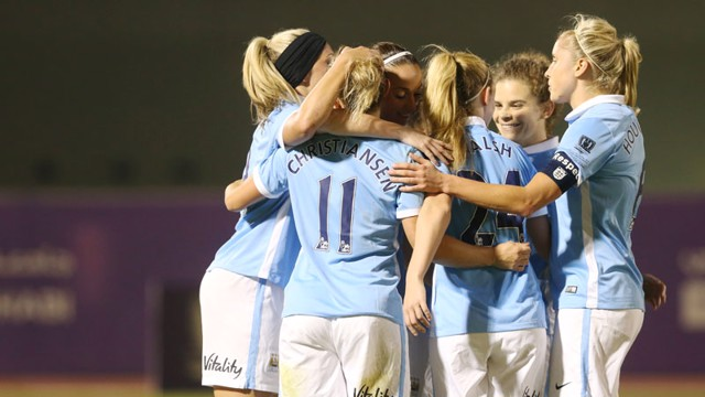 Manchester City Women celebrate
