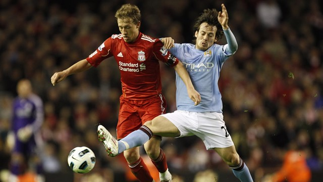 Silva on the Tackle front Liverpool