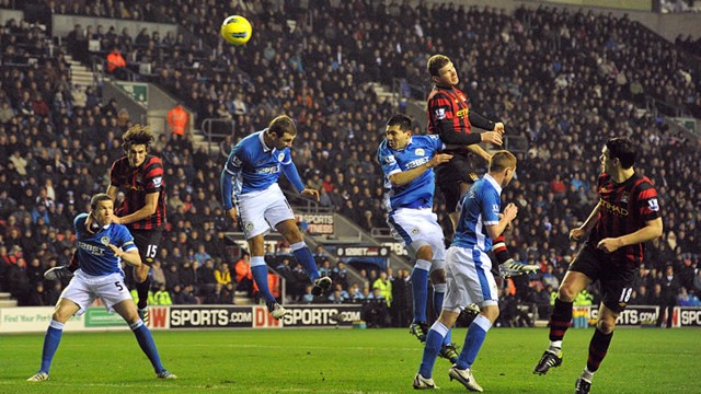 Dzeko goal action wigan