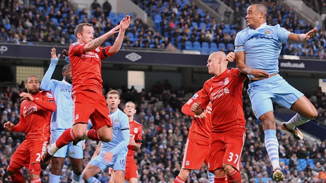 Kompany Action Liverpool