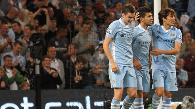 Aguero Silva and Johsnon Celebrate