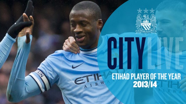 Yaya Player of the Year holding