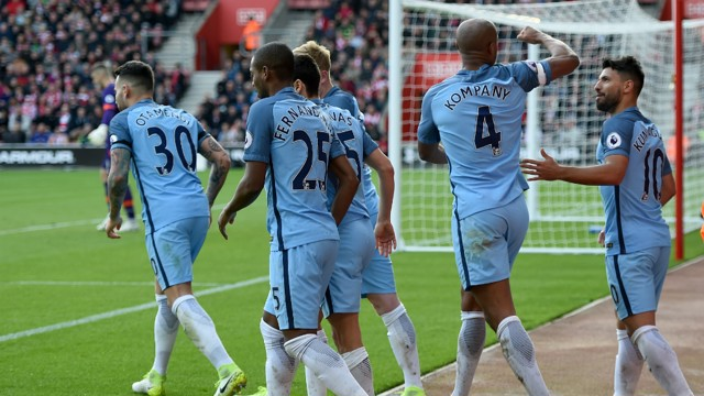 RELIEF: Kompany's long wait for a goal came to a satisfying end.