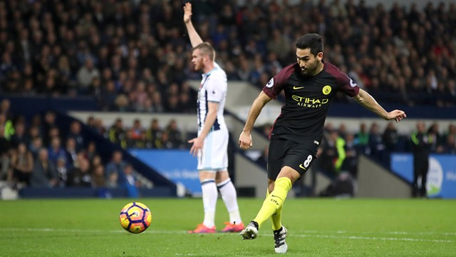 DOUBLE: Ilkay Gundogan coolly slots home the third