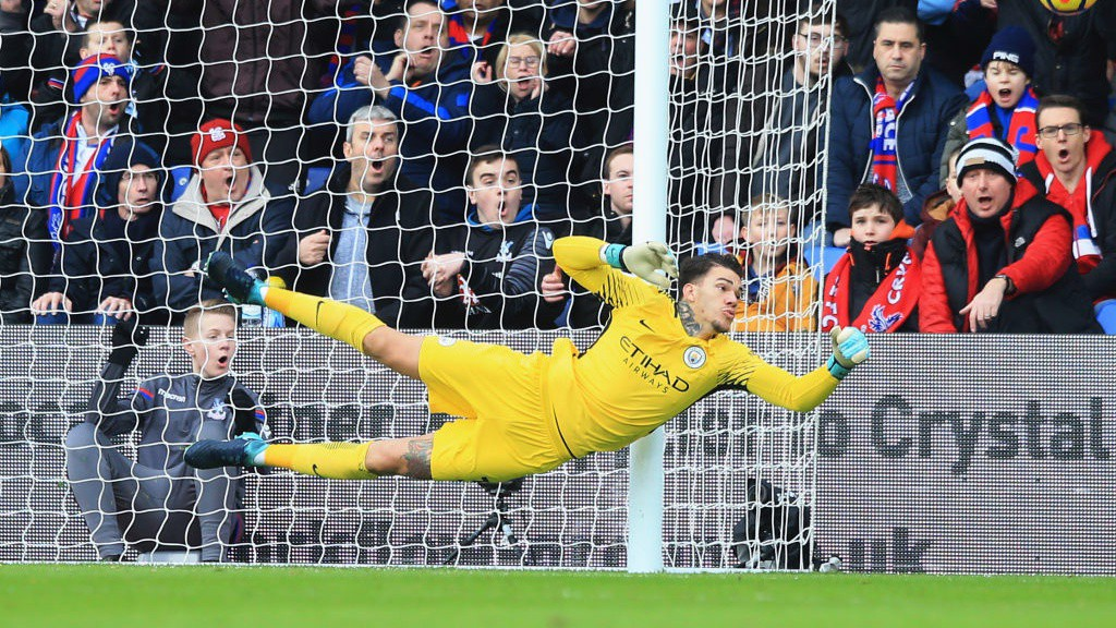 DEPENDABLE: Ederson produced a string of impressive saves at Turf Moor.