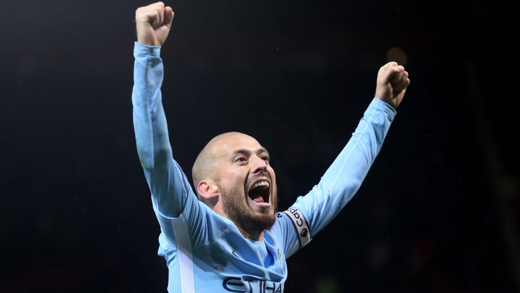 MAGIC MAN: Man-of-the-match David Silva celebrates the three points that extend City's lead to 11 points at the top of the Premier League.