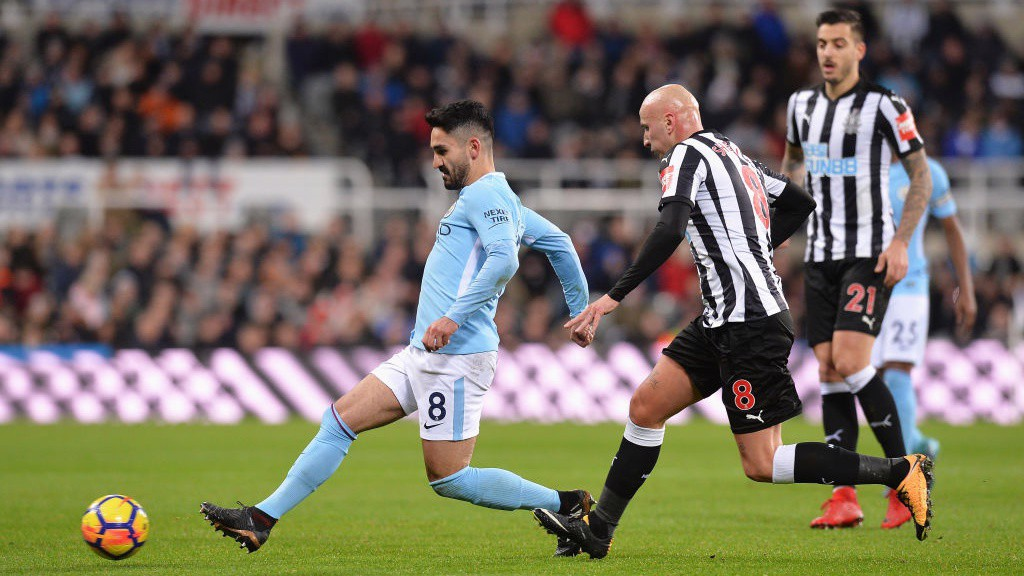 MIDFIELD MAESTRO: Ilkay Gundogan orchestrates proceedings in the middle of the park.