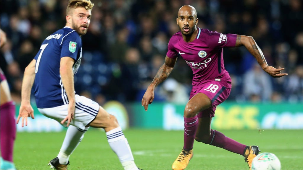 AB FAB: Fabian Delph looks to set up another City attack