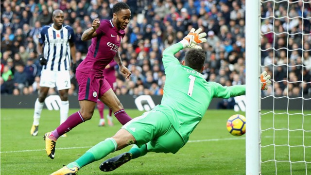 SUPER SUB: Raheem Sterling scores City's third just three minutes after coming on.