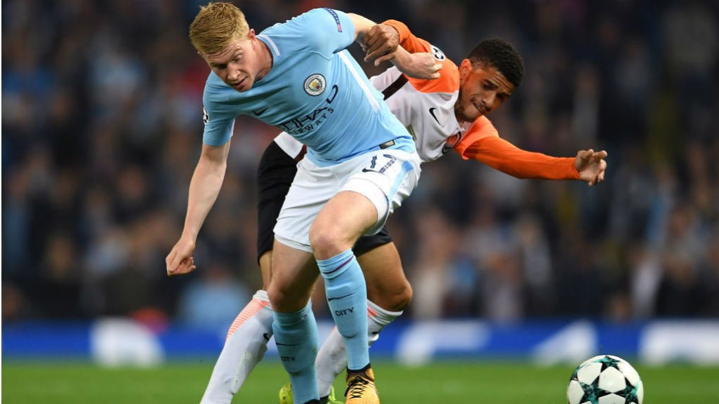 SPECIAL K: Kevin De Bruyne battles to win possession