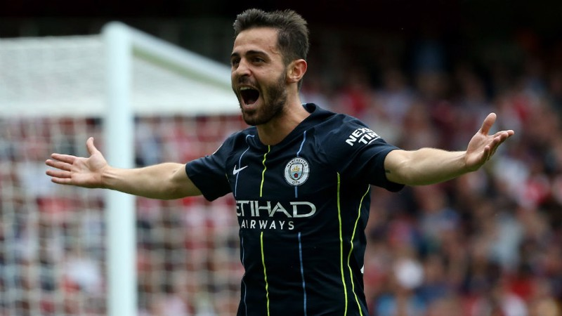HE GOT IT: Bernardo doubles our lead with a superb left-footed strike!