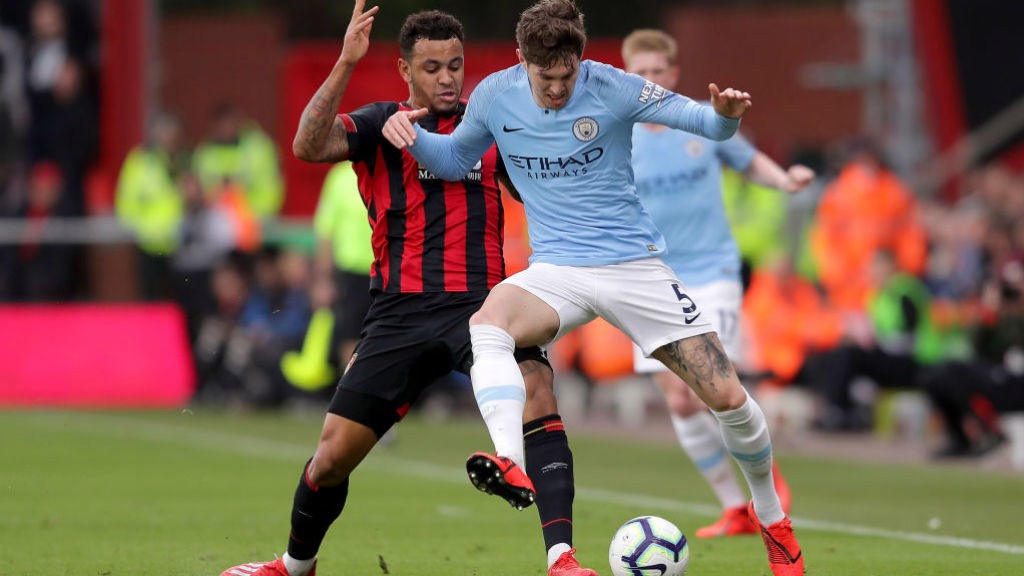 SOLID AS A ROCK:  John Stones brushes off Josh King