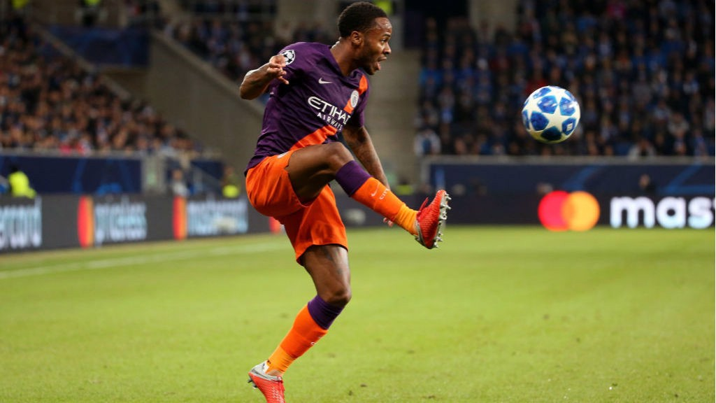 EURO FIGHTER: Raheem Sterling brings the ball under control