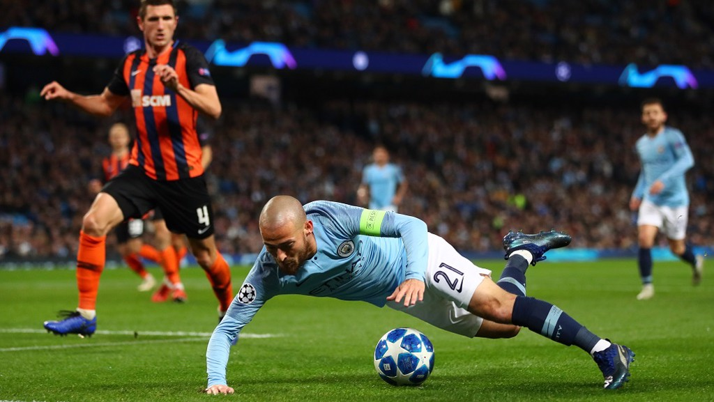 STONEWALL: David Silva wins City's second spot-kick of the night