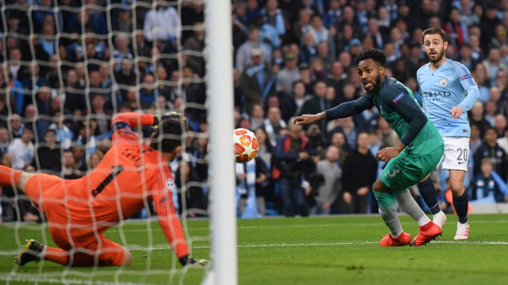 BACK IN THE GAME: Danny Rose can look on as he deflects the ball into the Spurs net