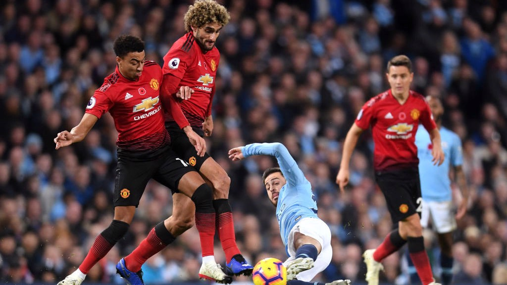 SLIDE RULE: Bernardo puts a block on Maraoune FellainI