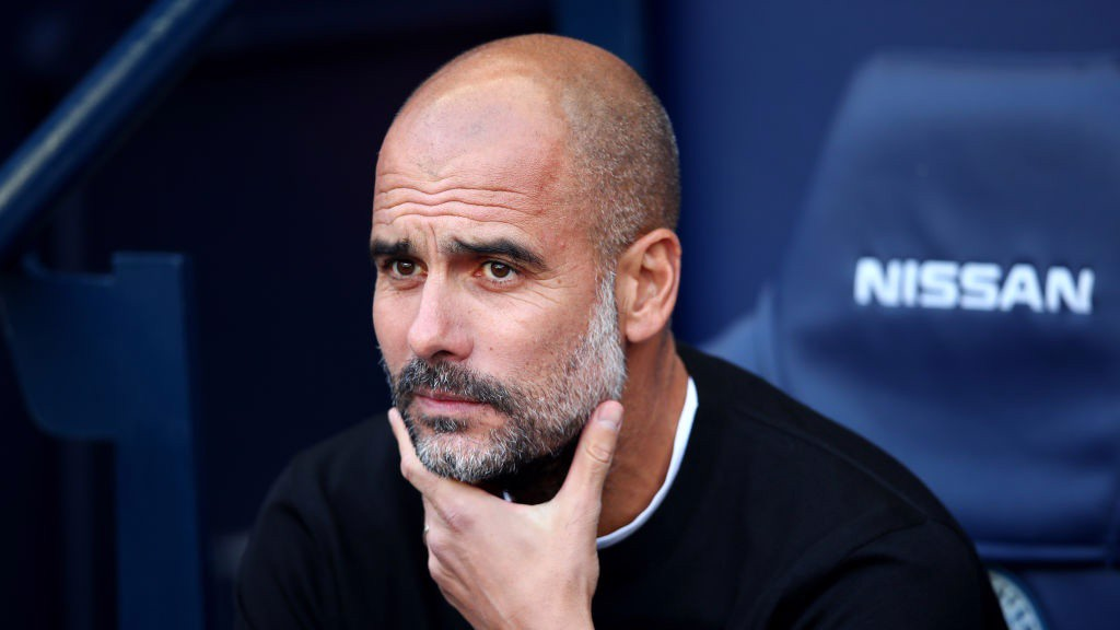 PEP WATCH: The manager observes from the dugout.