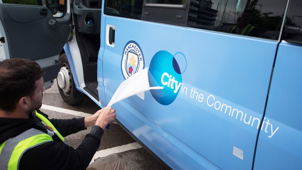 City in the Community is ready to get out and about in Manchester with its newly branded buses