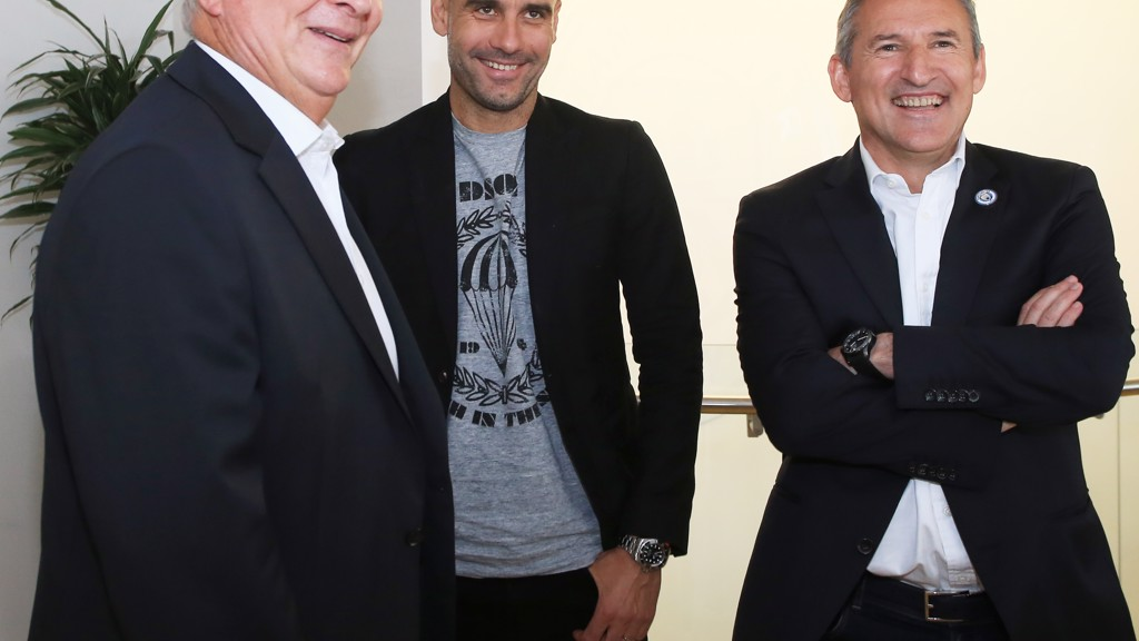 New MCFC Manager Pep Guardiola feels at ease in his new home at the City Football Academy