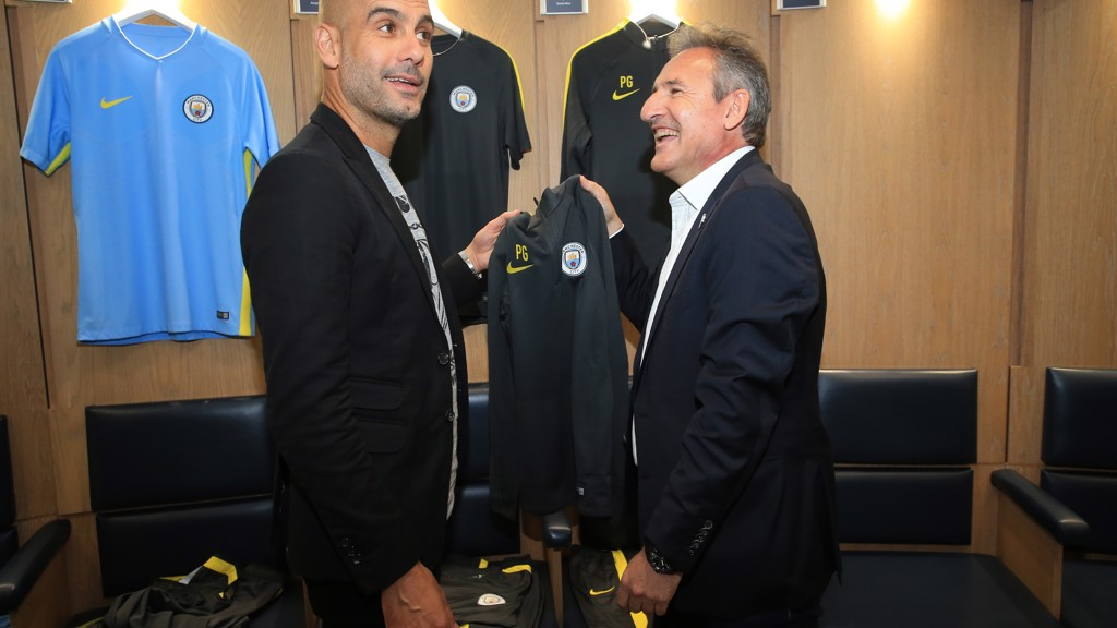 Txiki Begiristain reveals Peps new Nike training kit