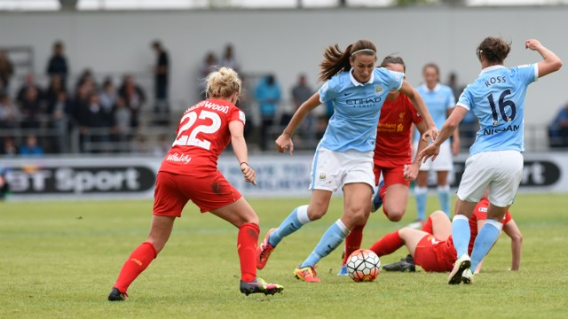 HALF CENTURY: Jill Scott in action on her 50th appearance for City
