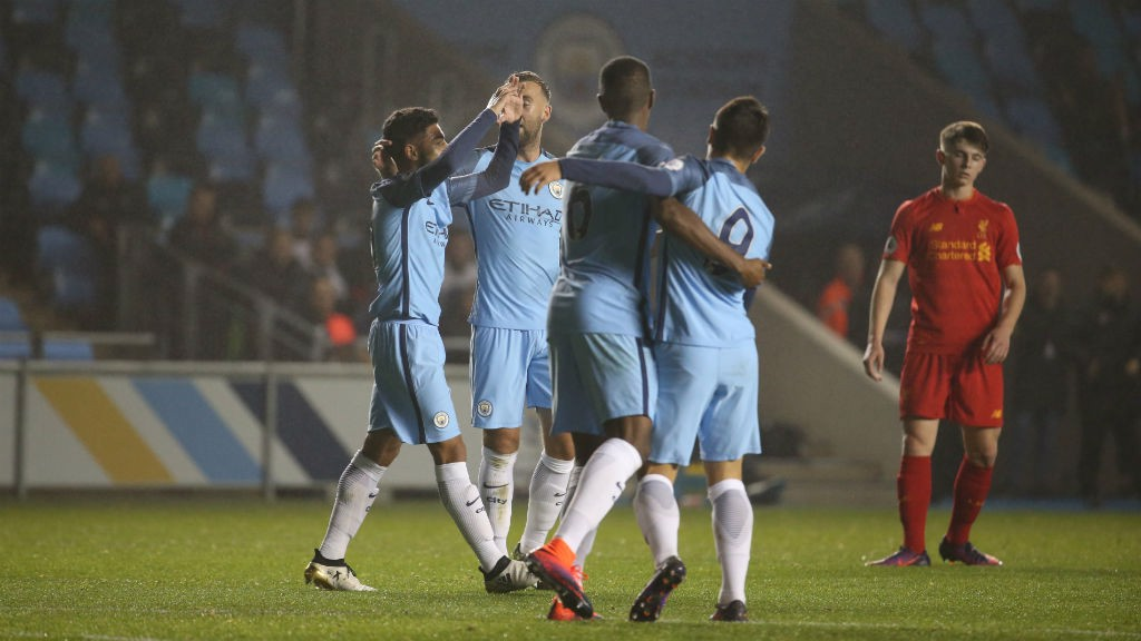 FLYING HIGH: Paolo Fernandes celebrates his third goal of the week