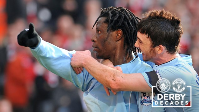 BENJANI: Scores at Old Trafford in 2008