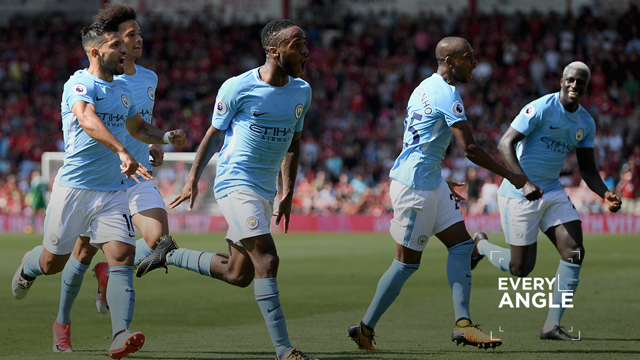 EVERY ANGLE: Sterling v Bournemouth