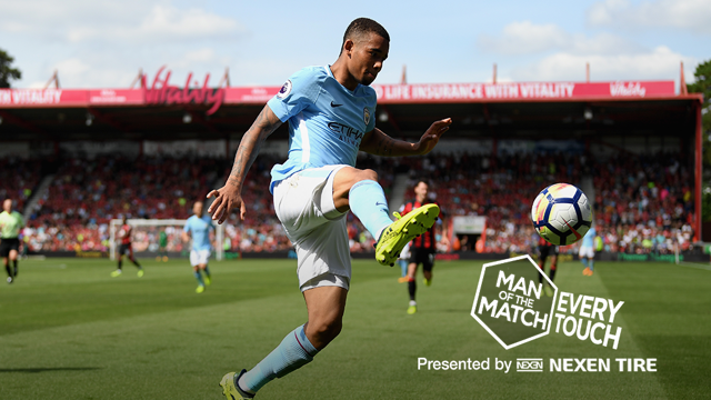 EVERY TOUCH: Gabriel Jesus v Bournemouth
