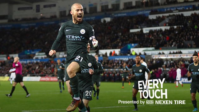 GOAL-DEN SILVA: David Silva produced a Man of the Match display against Swansea
