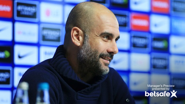 MANAGER'S NOTES: Pep Guardiola addresses the media ahead of the game