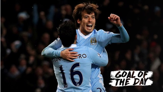 SUCCESS: A superb strike from David SIlva secures three points for Man City back in 2011.