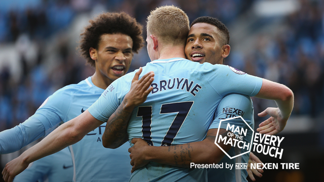 STAR MAN: Kevin De Bruyne produced a breathtaking performance against Stoke...