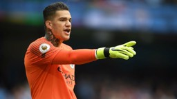 STEADY EDDIE: Ederson has spoken of his delight at setting up his first City goal
