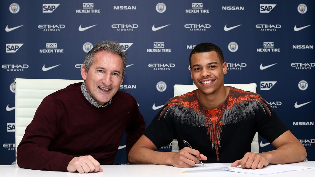 NEW DEAL: Lukas Nmecha puts pen to paper on a new contract.