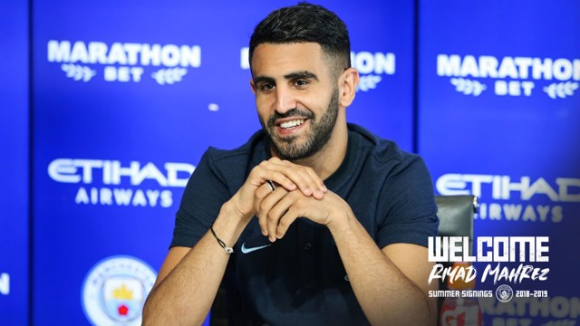 PRESS CONFERENCE: Riyad Mahrez addresses the media for the first time as a City player...