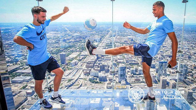 US TOUR: The boys took some time out to visit the Willis Tower