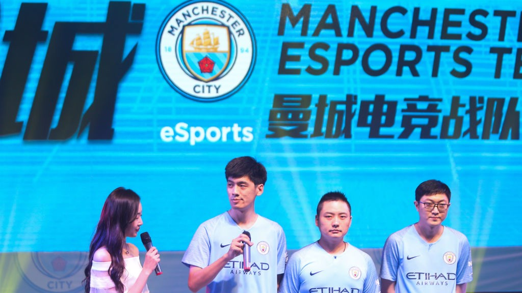 The launch of the Manchester City FIFA Online team in China