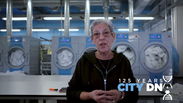 ENGINE ROOM: Laundry Manager, Janet Evans.